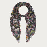 Bally Metal Flower Print Shawl