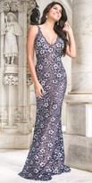 Jovani Beaded Floral Lace Prom Dress