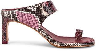 Zimmermann Strap Sandal in Burgundy Python   FWRD