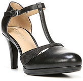 Naturalizer Megan Leather T-Strap Round Toe Pumps