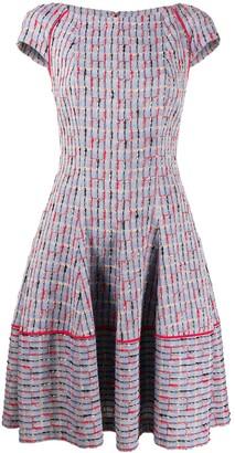 Talbot Runhof Kovalic geometric pattern dress