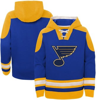 Outerstuff Youth Blue St. Louis Blues Ageless Must-Have Lace-Up Pullover Hoodie