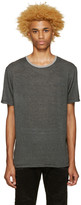 Pierre Balmain Black & Grey Striped T-Shirt