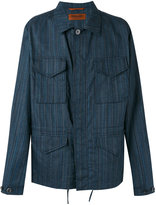 Missoni striped shirt jacket - men - Cotton/Linen/Flax - M