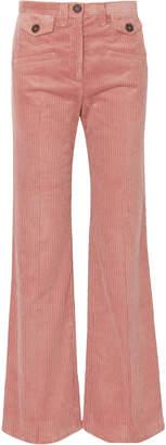 ALEXACHUNG Cotton-blend Corduroy Bootcut Pants