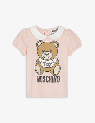 Moschino Bear logo-print cotton-blend T-shirt 3-36 months