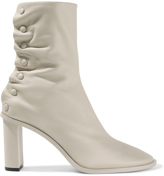 The Row Teatime Button-detailed Leather Ankle Boots
