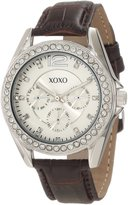 XOXO Women's XO3349 Rhinestones Accent Brown Strap Watch