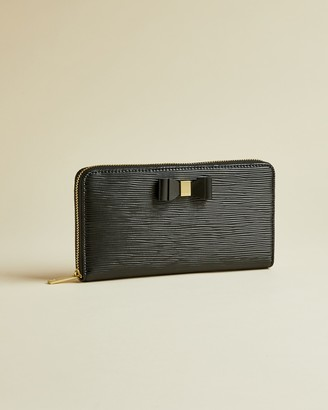 Ted Baker ROUXI Bow zip around matinee purse