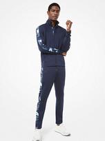 Michael Kors Mens Camouflage Stripe Scuba Track Jacket