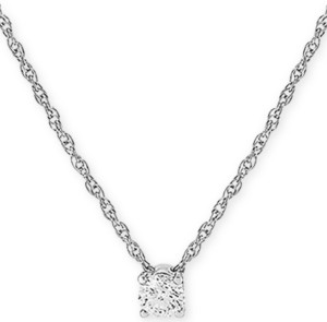 "Forever Grown Diamonds Lab Created Diamond Solitaire 16"" Pendant Necklace (1/4 ct. t.w.) in Sterling Silver"