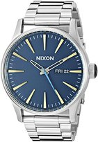 Nixon Men's A3562076 Sentry SS Analog Display Japanese Quartz Silver Watch