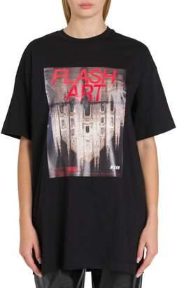 MSGM Flash Art Oversized Tee