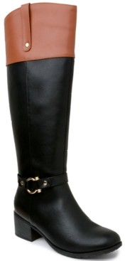 Karen Scott Vickyy Extended Wide-Calf Riding Boots, Created for Macy's Women's Shoes