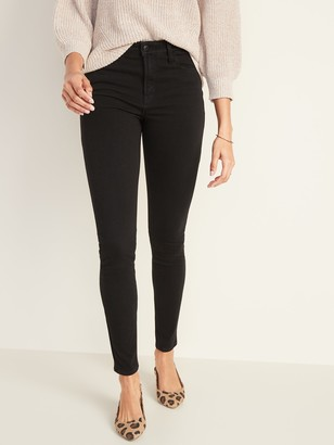 Old Navy High-Waisted Rockstar 24/7 Sculpt Super Skinny Black Jeans For Women