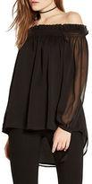 Bardot Amelia Shirred Off the Shoulder Blouse