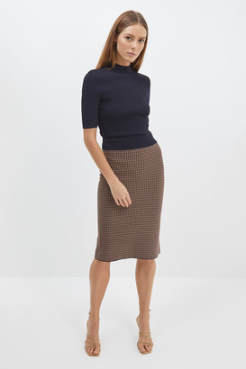 Mara Milano Check Pencil Skirt