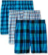 Hanes Men's Ultimate 3 Pack Woven Boxers