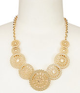 Anna & Ava Mason Filigree Disc Statement Necklace