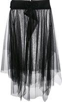 Y's asymmetric tulle skirt