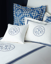 Legacy Queen Ascot Geo Coverlet with Monogram