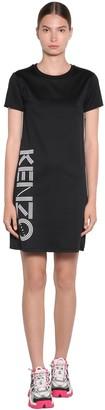 Kenzo Side Logo Cotton Jersey T-Shirt Dress