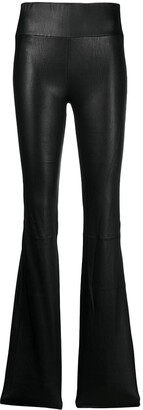 Sprwmn Leather Bootcut Trousers