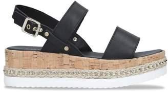 Carvela Leather Krash Flatform Sandals