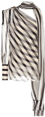 Monse Striped silk top