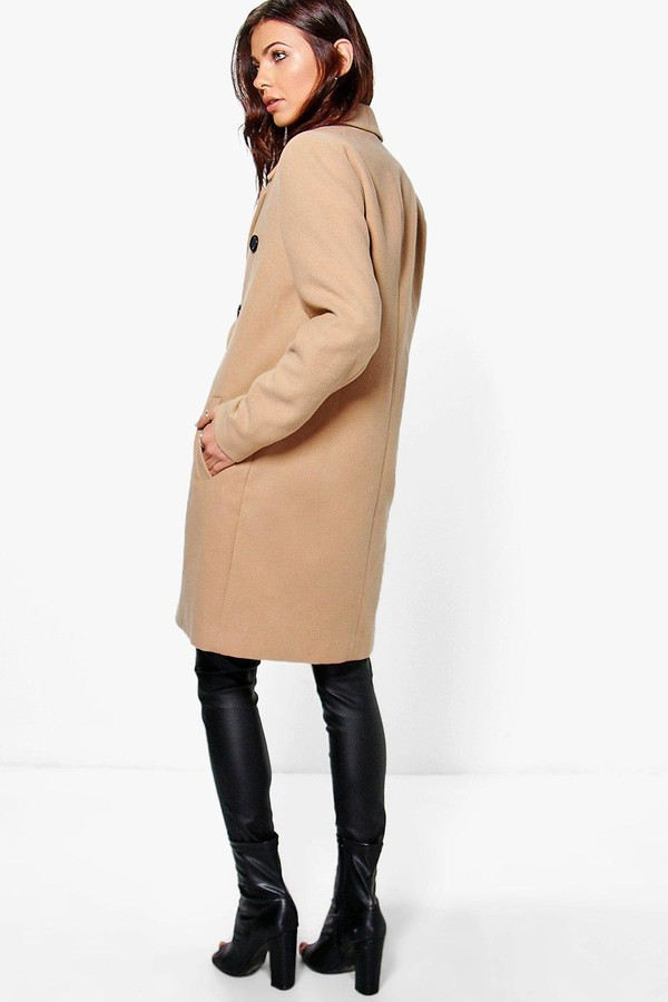 Thumbnail for your product : boohoo Double Breasted Coat