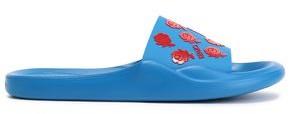 Kenzo Floral-appliqued Rubber Slides