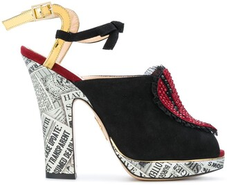 Charlotte Olympia ankle length sandals