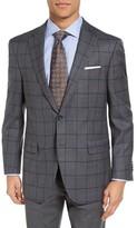 Peter Millar Men's Classic Fit Windowpane Wool Sport Coat