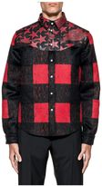 Valentino Black/red Check And Camustars Wool Jacket