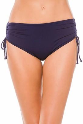 Beach House Women's Solid Adjustable Side Tie Bikini Bottom Swimsuit