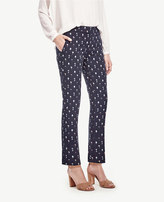 Ann Taylor The Petite Ankle Pant in Tree Jacquard - Kate Fit