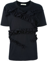 Cédric Charlier ruffled T-shirt - women - Cotton - 38