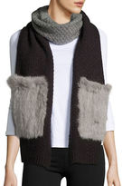 La Fiorentina Rabbit Fur-Accented Wool-Blend Scarf