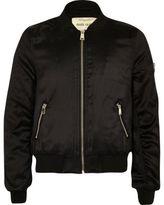 River Island Girls Black badge appliqué bomber jacket
