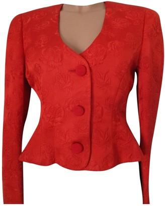 Krizia Red Wool Jacket for Women