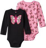Baby Starters Baby Girl 2-pk. Butterfly Bodysuits