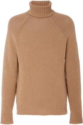 Ralph Lauren Ribbed Cashmere Turtleneck Sweater