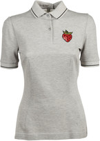 Dolce & Gabbana Strawberry Patched Polo Shirt