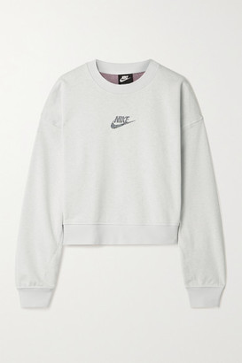 Nike Printed Cotton-blend Jersey Sweatshirt - Lilac