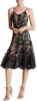 Dress the Population Women's Corded Embroidered Lace Fit & Flare Dress