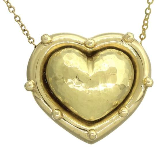 Tiffany & Co. 18K 750 Yellow Gold Paloma Picasso Heart Pendant Necklace