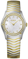 Ebel ladies' gold/stainless steel bracelet watch.