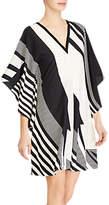 Lauren Ralph Lauren Latesha Print Crepe Shift Dress, Black/Cream