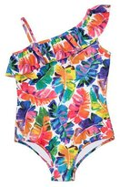 Milly Minis Banana Leaf One-Piece Swimsuit, Multicolor, Size 8-14