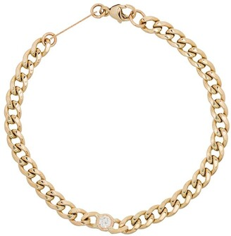 Zoë Chicco 14kt Gold Diamond-Embellished Chain Bracelet